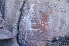 Felszeichnungen am Nourlangie Rock im Kakadu NP (2)