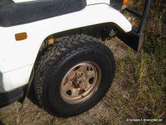 Einer unserer neuen Reifen