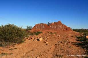 Falk vor Alice Springs