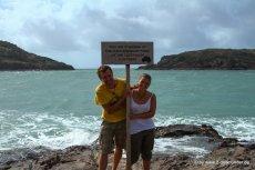 Kati und Falk am Tip of Cape York