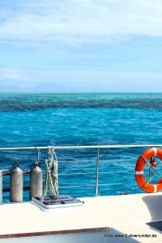 Blick vom Boot aufs Great Barrier Reef
