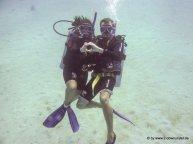 Kati und Falk unter Wasser