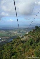 Skyrail vor dem Blick auf Cairns