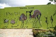 Wand vor Shop in Kuranda