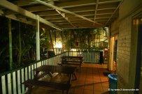Außenbereich im Hostel in Brisbane